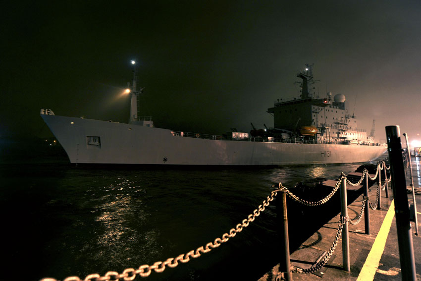 HMS Scott deploys from Plymouth to Antarctic