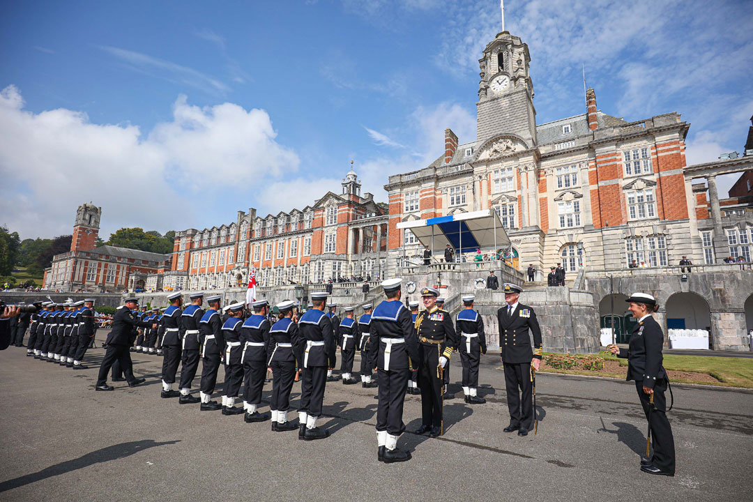 Britannia Royal Naval College in Dartmouth