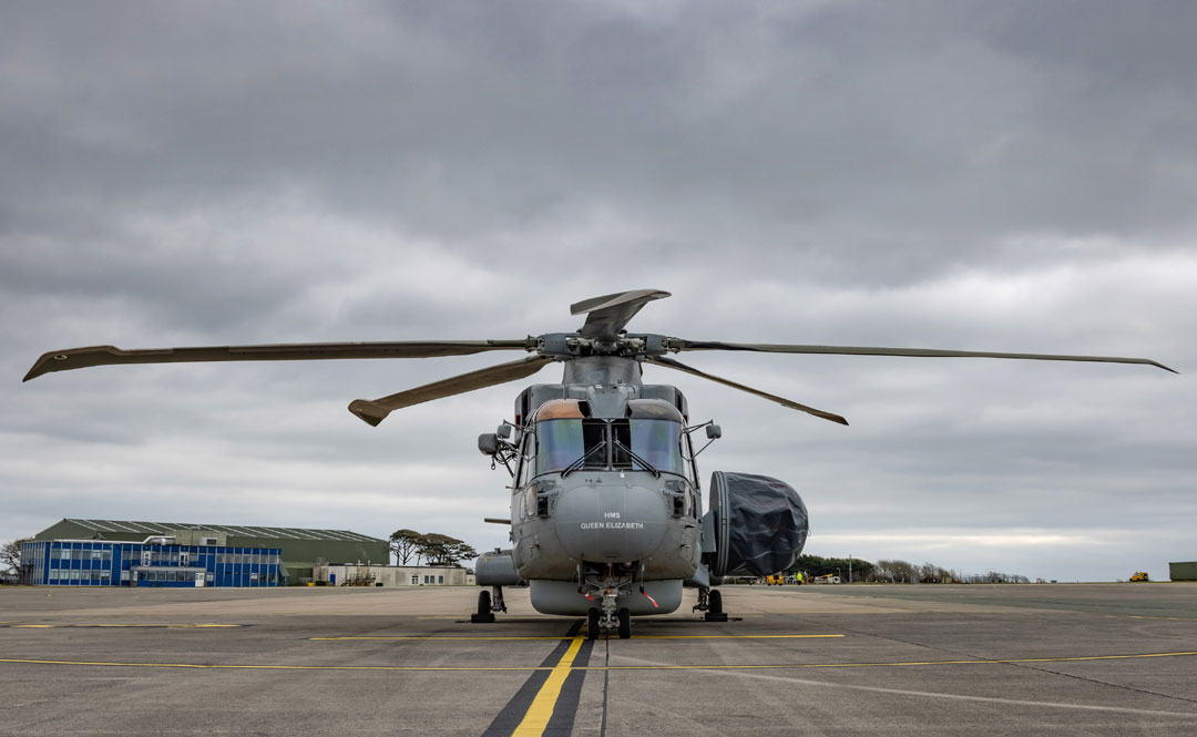 Merlin Crowsnest helicopter