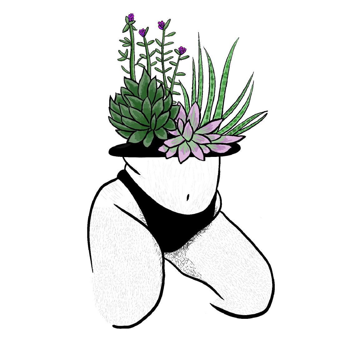 Feminist Fusion Exhibition Charlie Thompson Lady Succulent