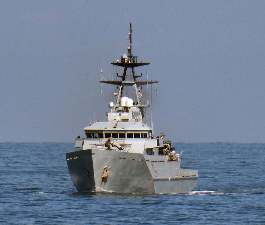 HMS Mersey taken during the recent monitoring operation