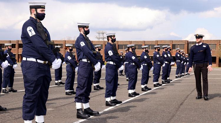 Sailors and Royal Marines train for HRH The Duke of Edinburgh's funeral