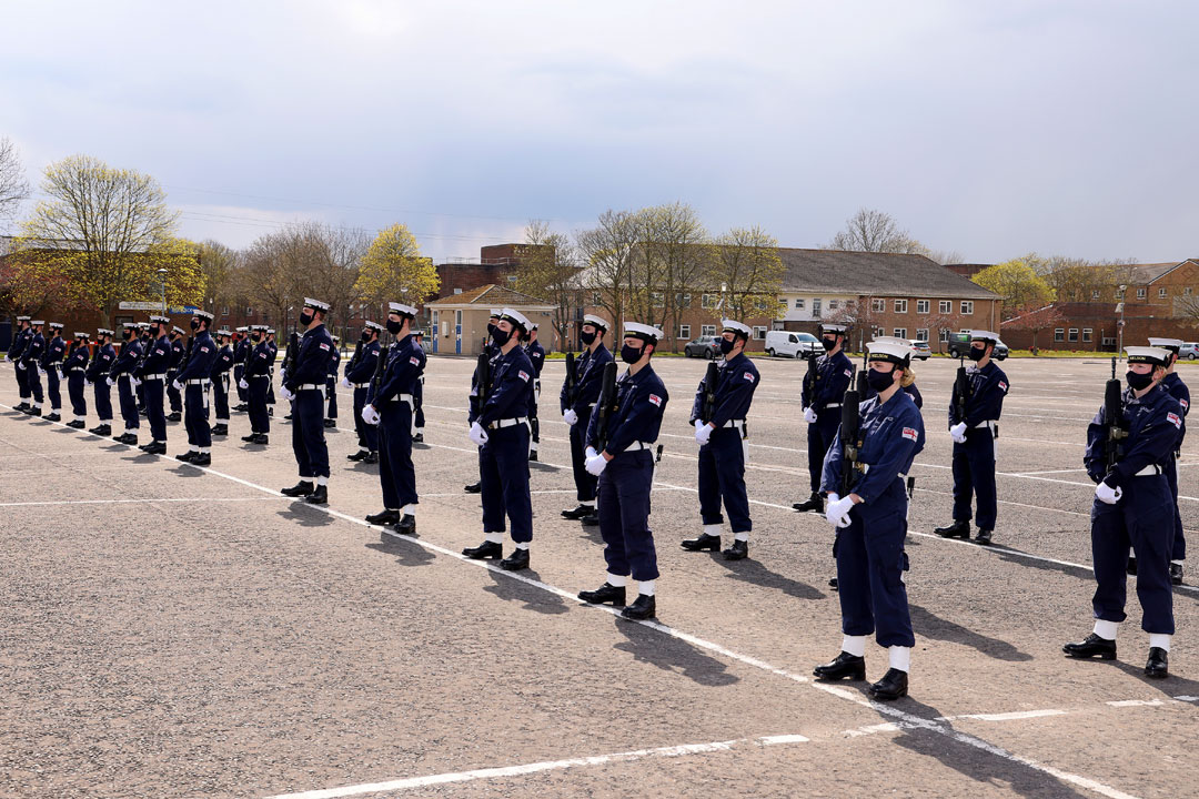 Sailors and Royal Marines train for HRH The Duke of Edinburgh's funeral