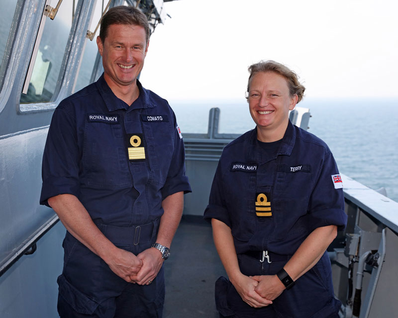 Commander Jude Terry and Commodore Andrew Burns COMATG