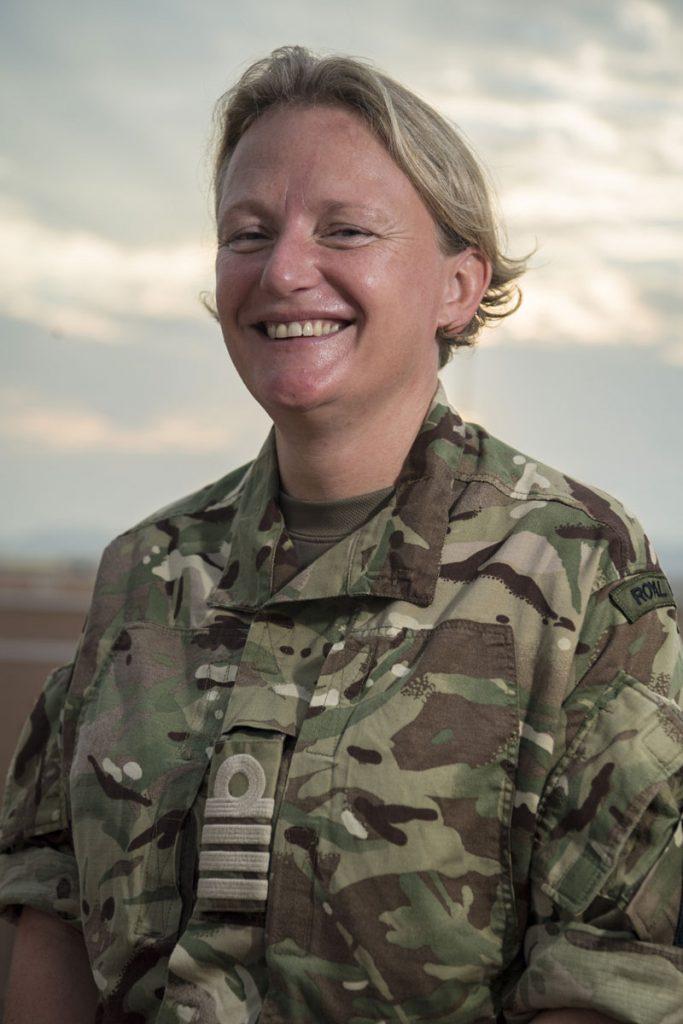 Jude Terry as a Captain in Oman during Exercise Saif Sareea 3
