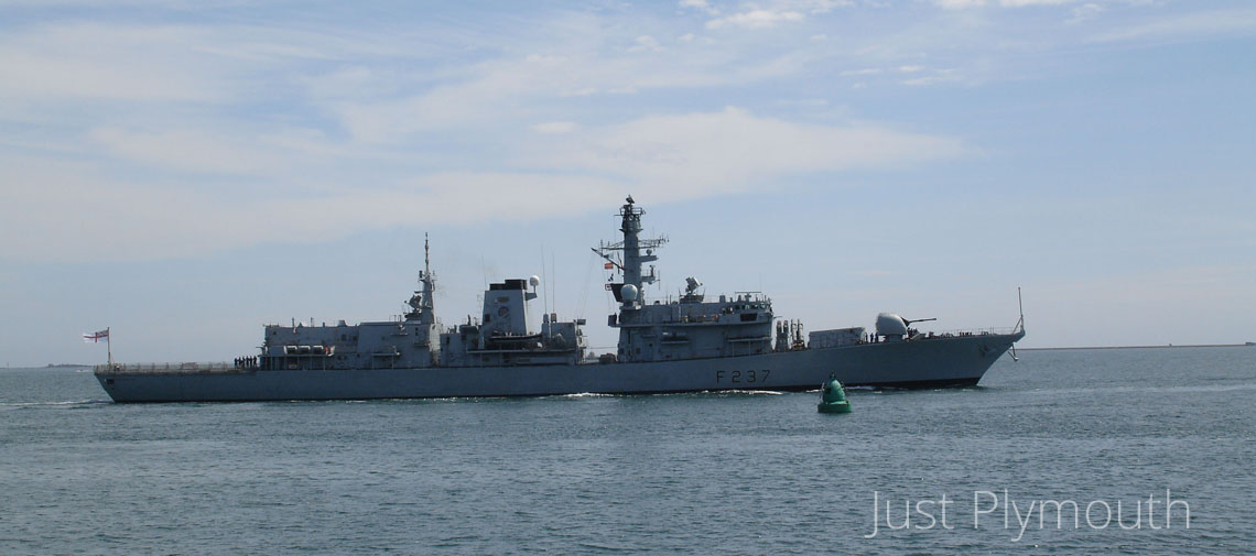 HMS Westminster in Plymouth Sound
