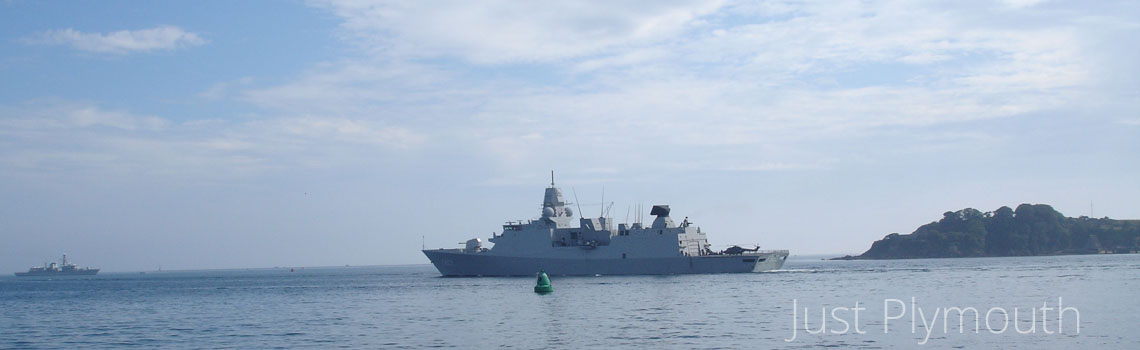 HNLMS Tromp Royal Netherlands Navy Guided Missile Frigate in Plymouth Sound