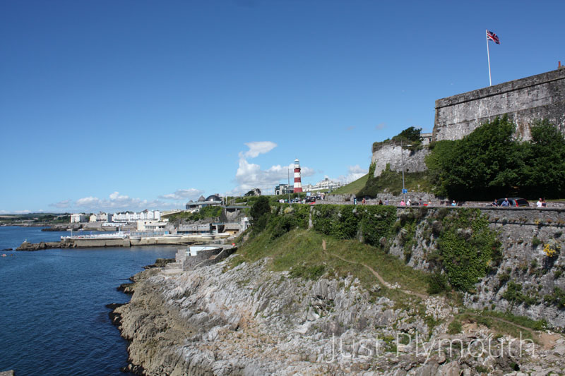 Madeira road leading up to Plymouth Hoe
