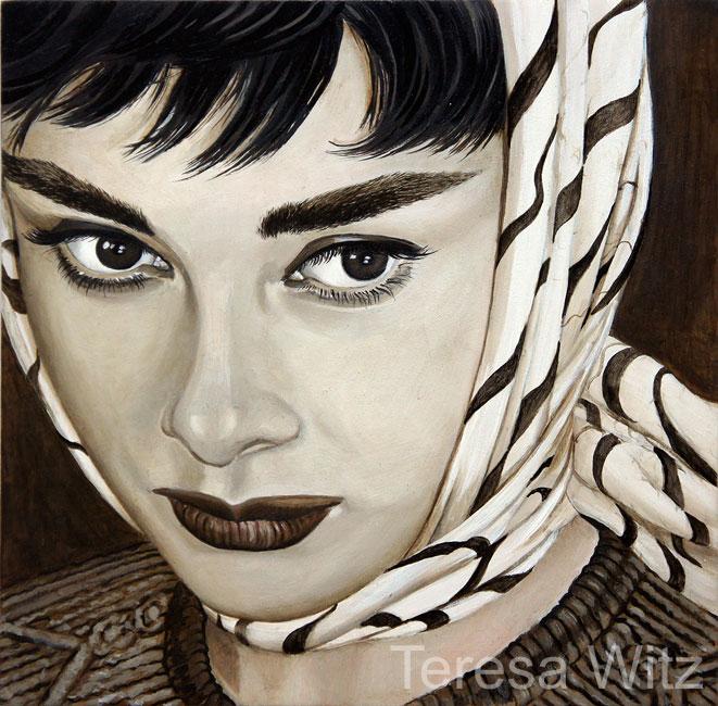 Audrey Hepburn by Teresa Witz