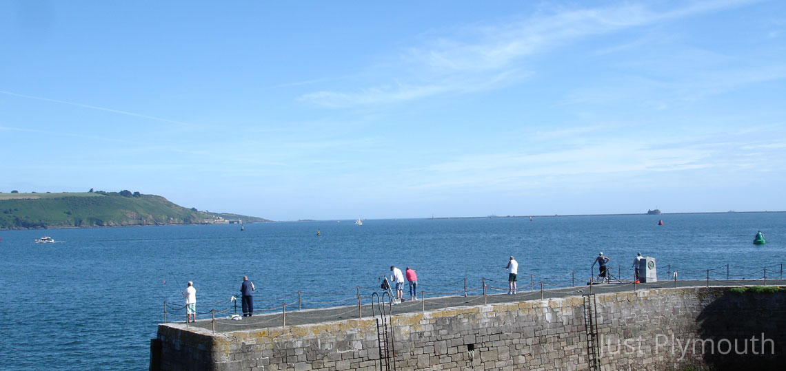 Plymouth Hoe anglers