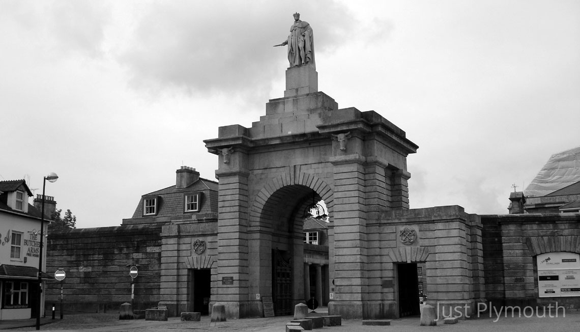 Entrance to the Royal William Yard