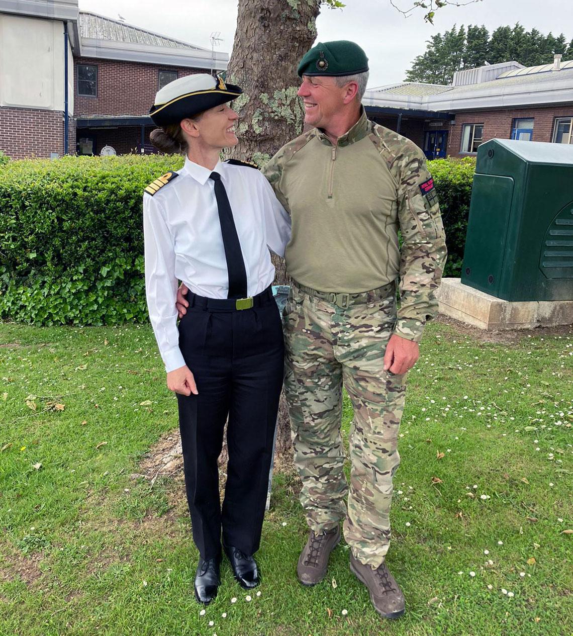 Capt Suzi Nielsen with her husband Major Erik Nielsen