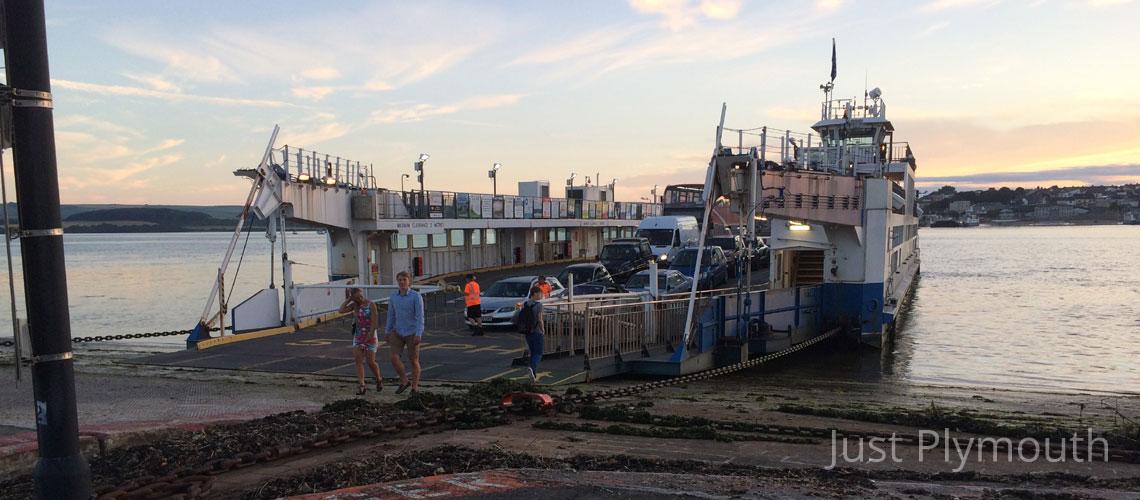 Torpoint Ferry offloading in Devonport
