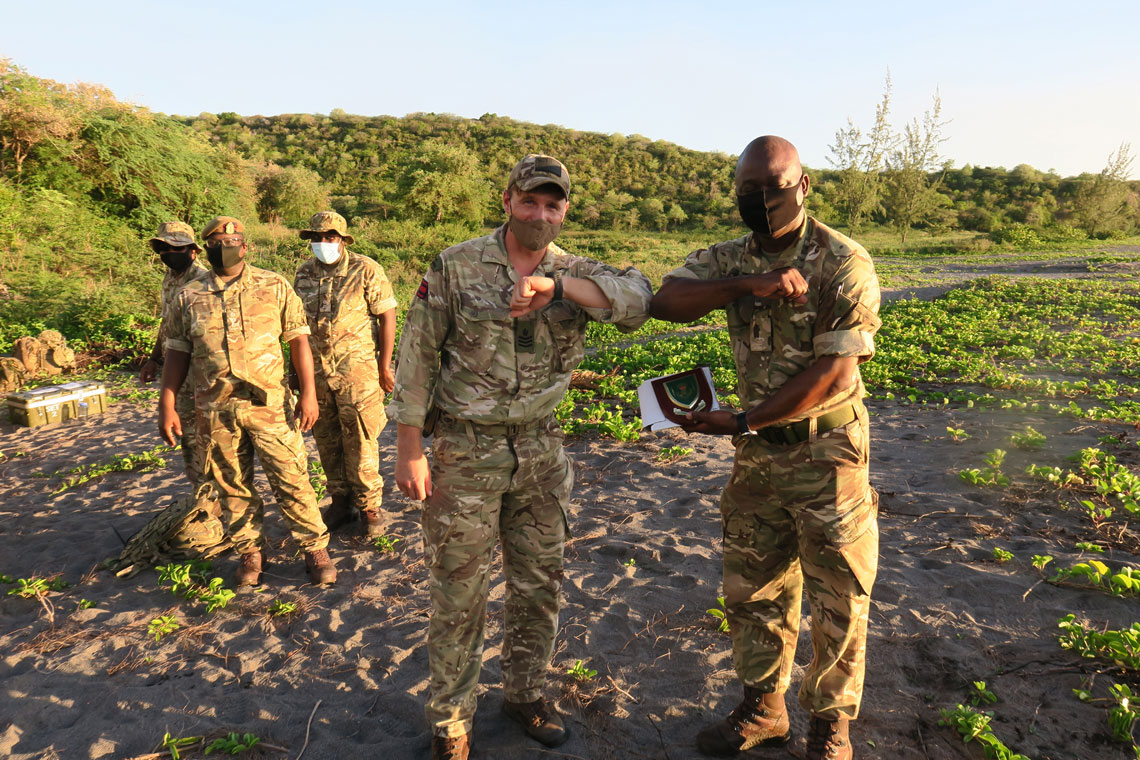 Exchanging souvenirs with Montserrat's authorities