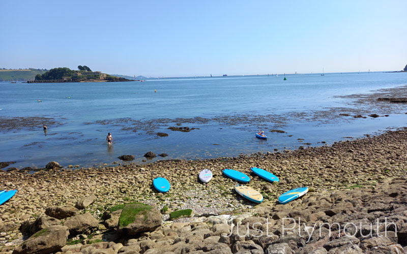 The beach at the Royal William Yard