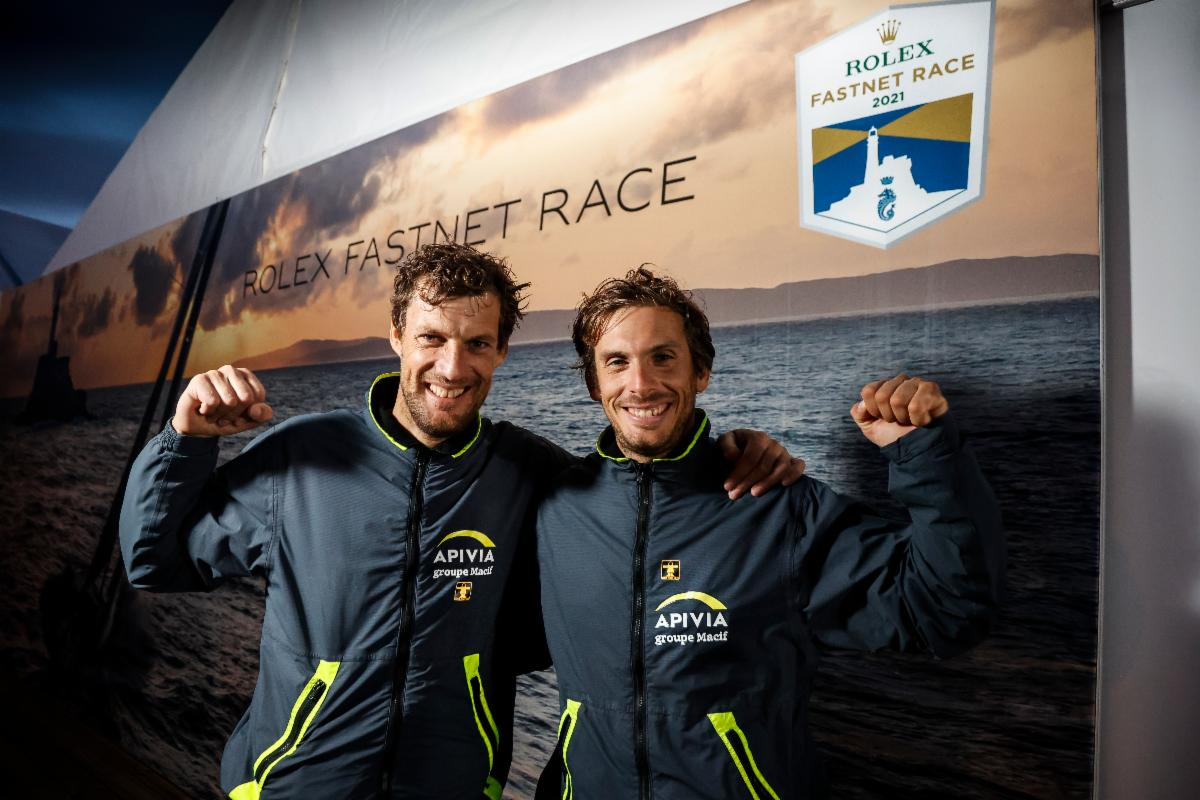 Rolex Fastnet Race victory in the IMOCA class for the hugely talented Charlie Dalin and Paul Meilhat on Apivia © Paul Wyeth