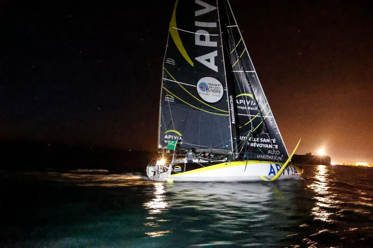Apivia - first IMOCA to finish the Rolex Fastnet Race © Paul Wyeth