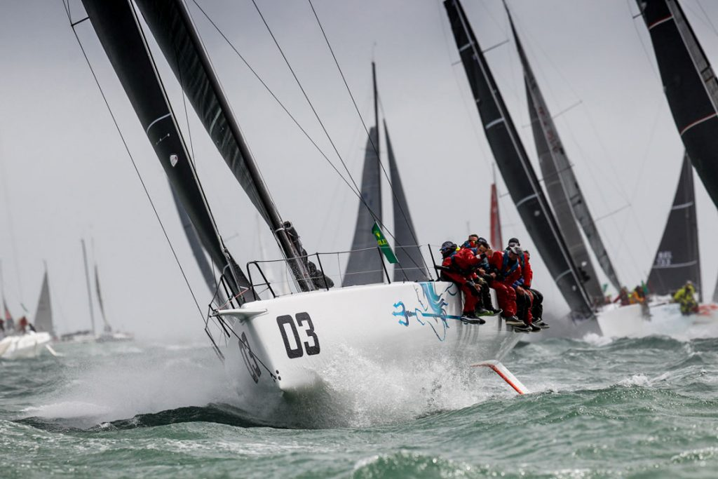 In IRC One, RORC Commodore James Neville's HH42 INO XXX was vying for the lead on the water © Paul Wyeth
