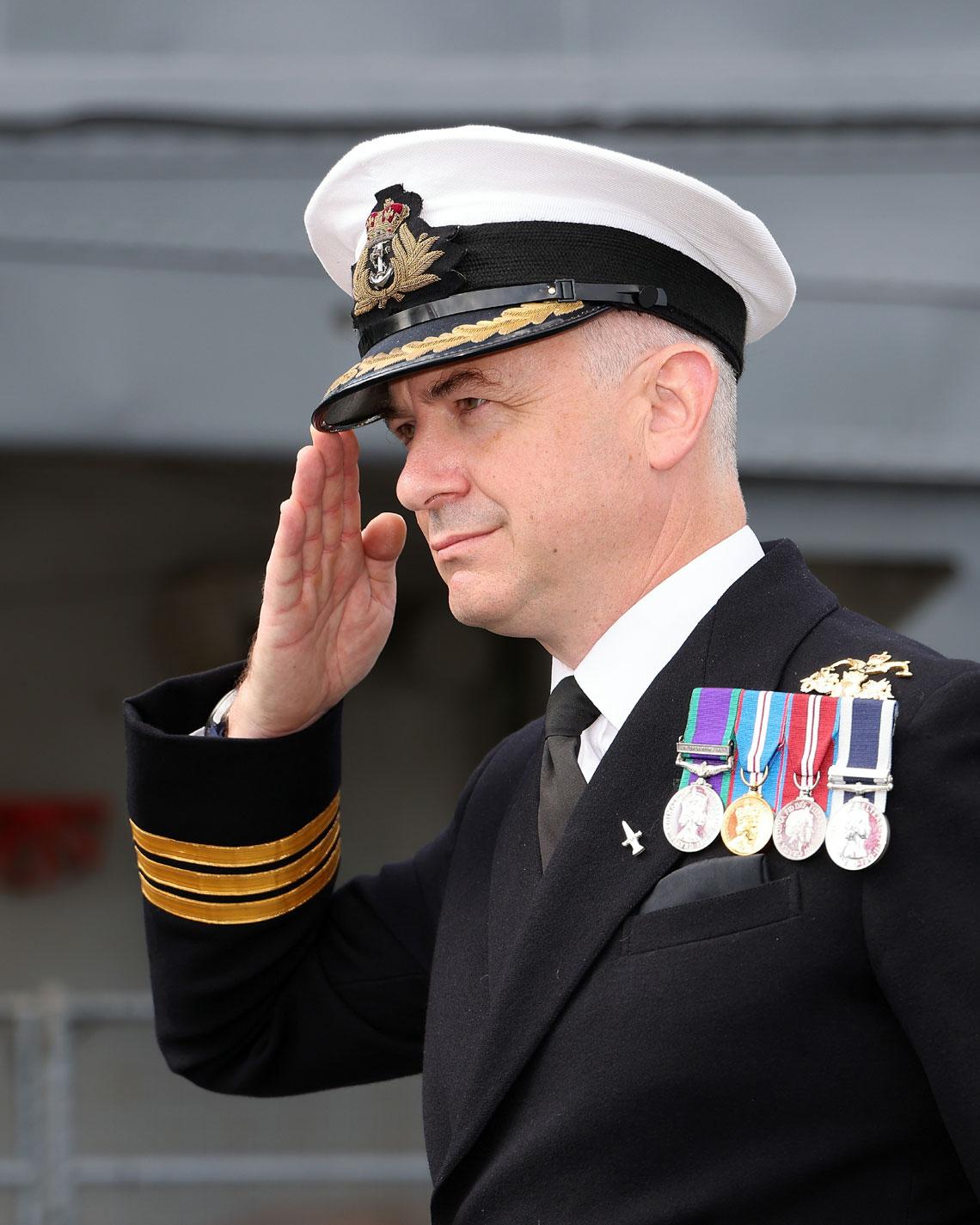 Commanding Officer of HMS Severn Commander Phil Harper