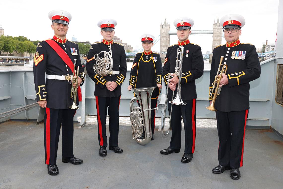Members of the Royal Marines Band