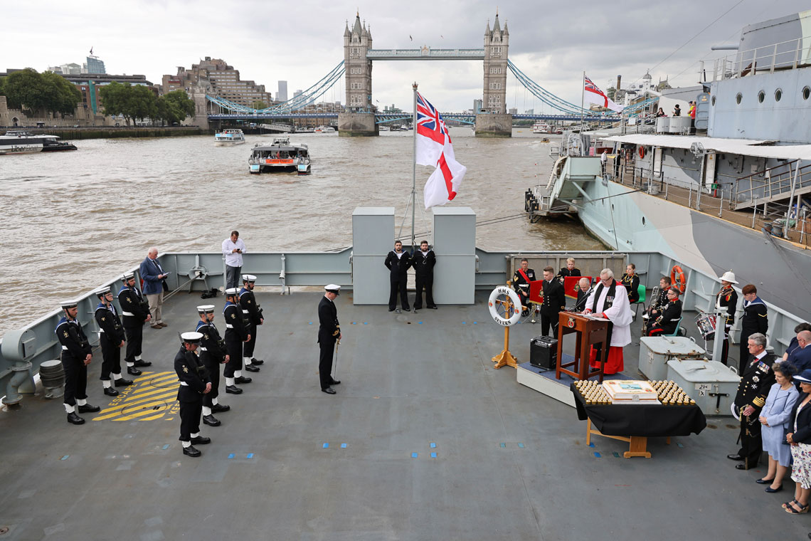 HMS Severn recommissioning ceremony