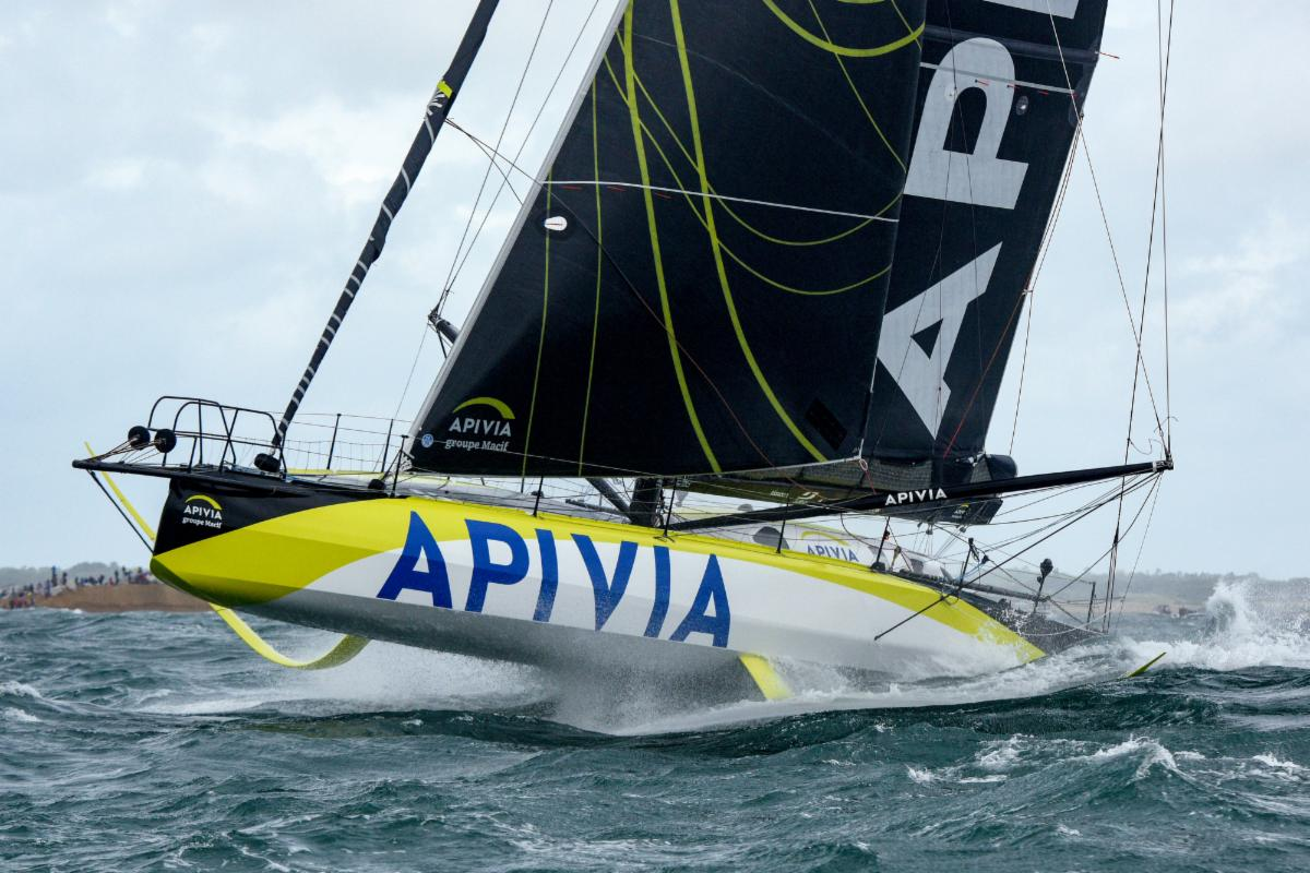 Charlie Dalin and Paul Meilhat on the IMOCA Apivia - an early stand-out leader in the Rolex Fastnet Race © Rick Tomlinson