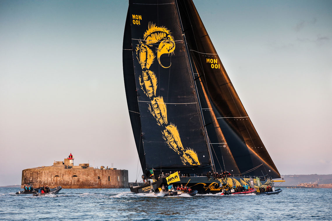 Skorpios completes the 695nm Rolex Fastnet Race on the finish line