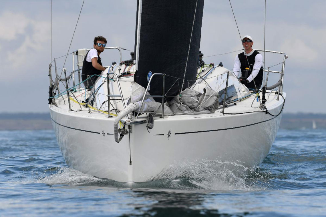 The Sun Fast 3200 Cora was top British boat in IRC Four in the 2019 Rolex Fastnet Race c Rick Tomlinson