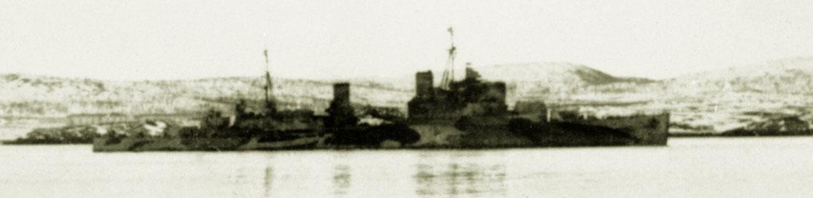 HMS Trinidad in Murmansk in 1942