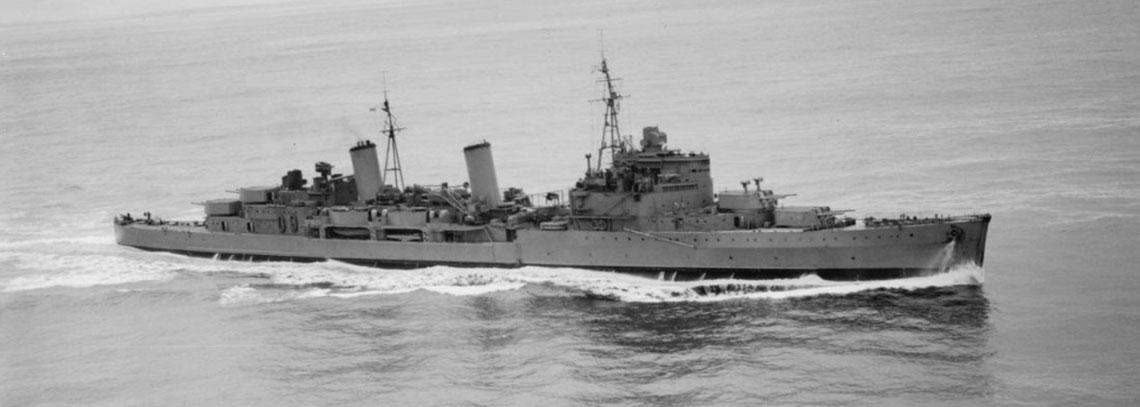HMS Edinburgh at sea in the autumn of 1941
