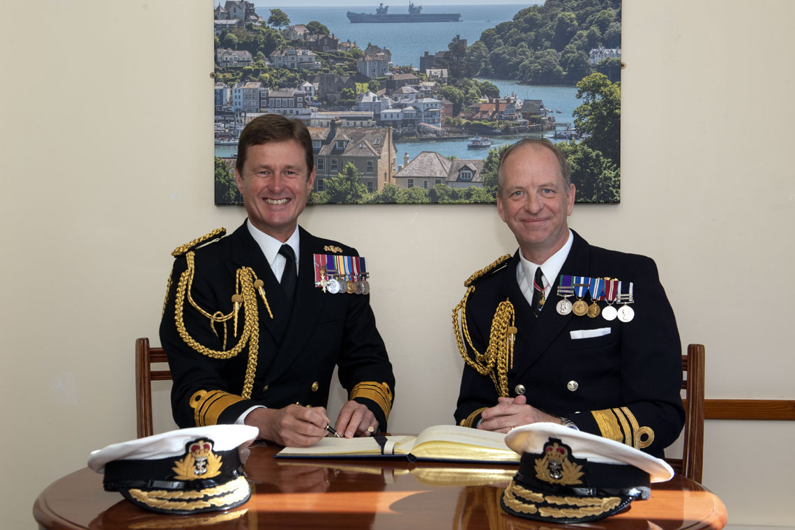 Vice Admiral Andrew Burns takes over the role of Fleet Commander from Vice Admiral Jerry Kyd
