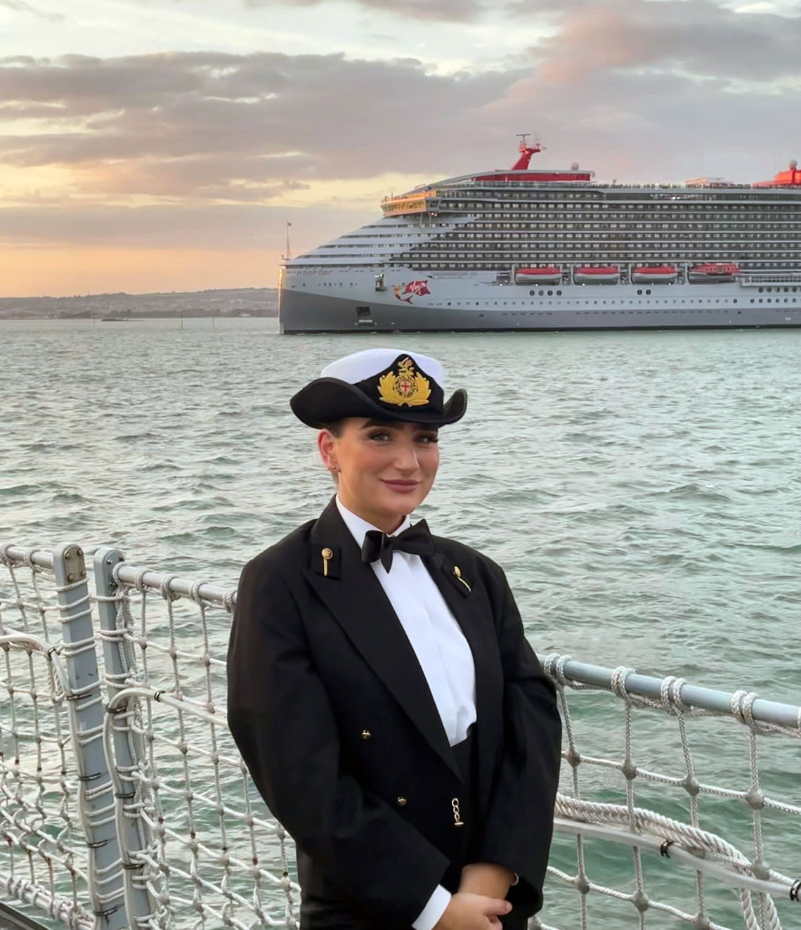 Cadet Scarlett Barnett-Smith in formal dinner wear